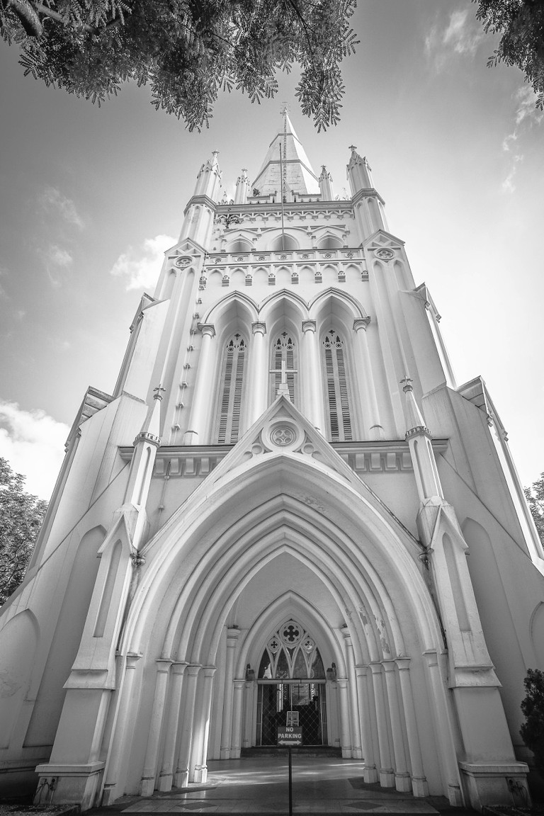 The Majestic St Andrew's Cathedral Tower by Andrean Hadhianto Kwee