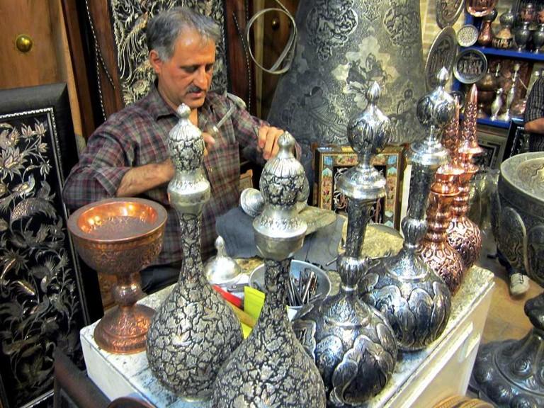 A metal worker in Esfahan | © David Stanley / Flickr