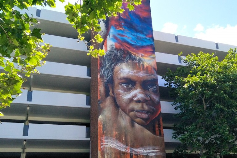 Adnate mural at the Gibson St car park   © Tom Smith
