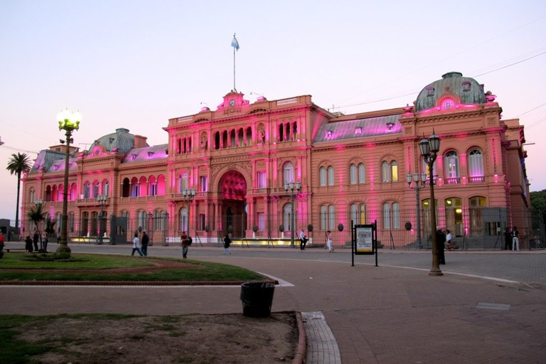 The Pink House at its pinkest