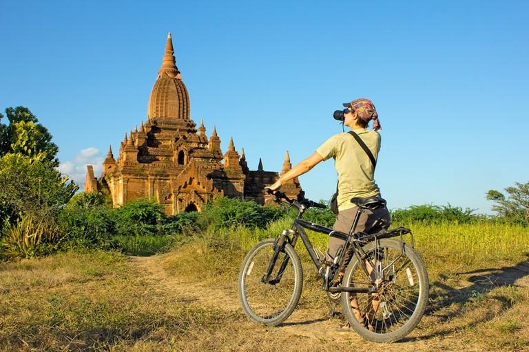 Biking-in-Bagan-Myanmar