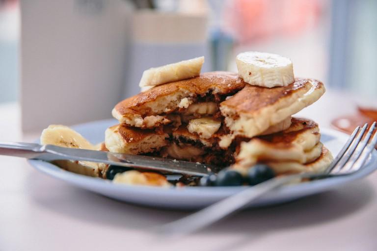 cafe miami banana and chocolate pancakes