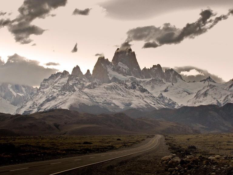The road from El Calfate to El Chalten