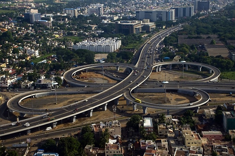 Aerial view of Kathipara Junction