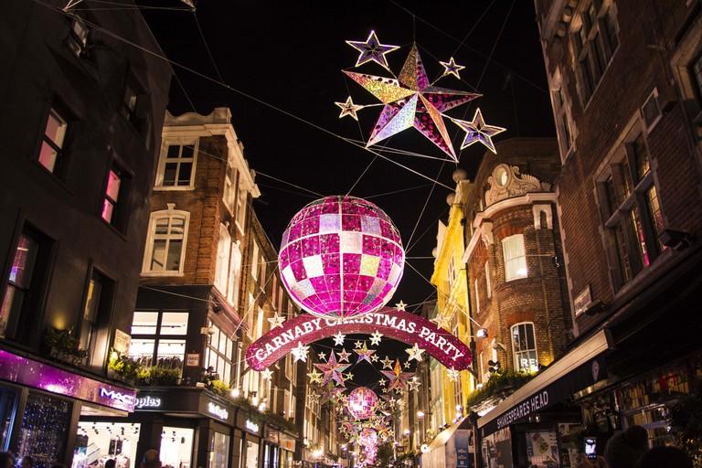 Christmas lights on Carnaby Street