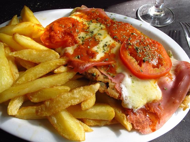 Milanesa napo, a local favourite