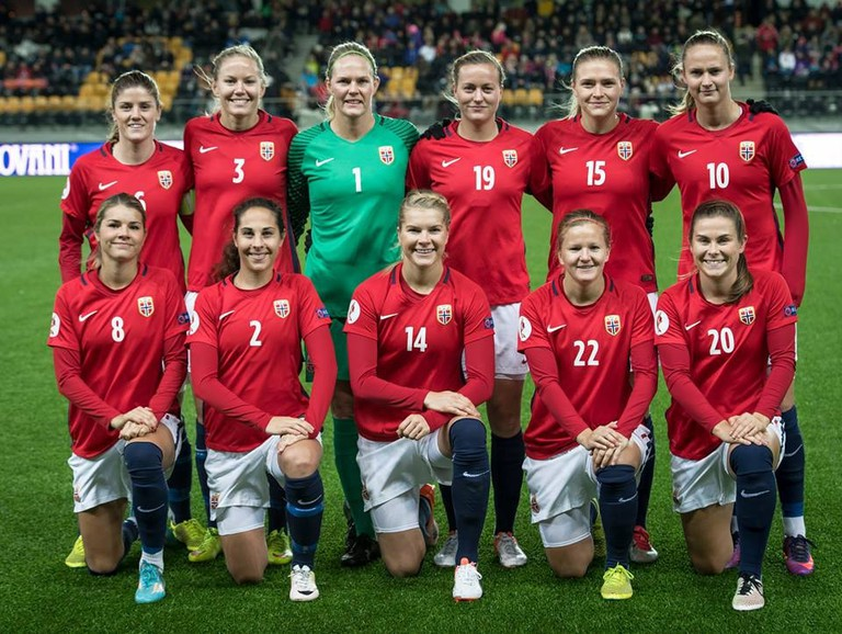 The Norwegian women's and men's national football teams are paid the same