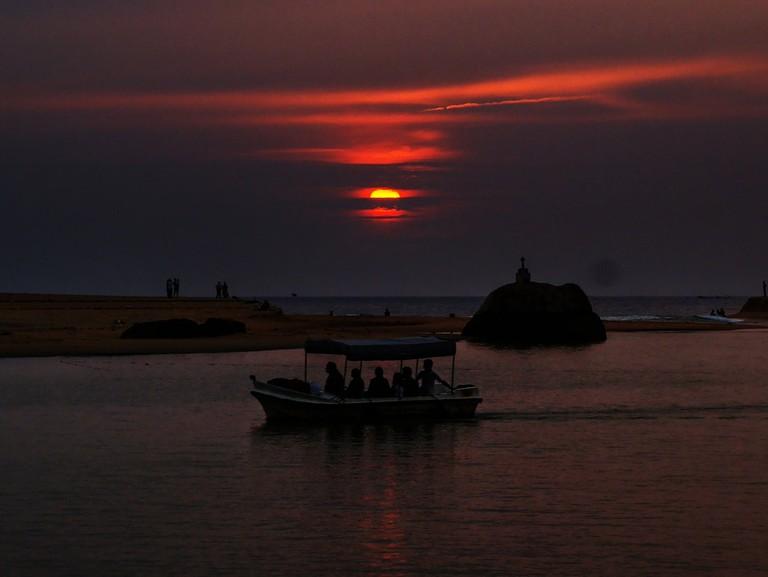 Poovar backwater sunset