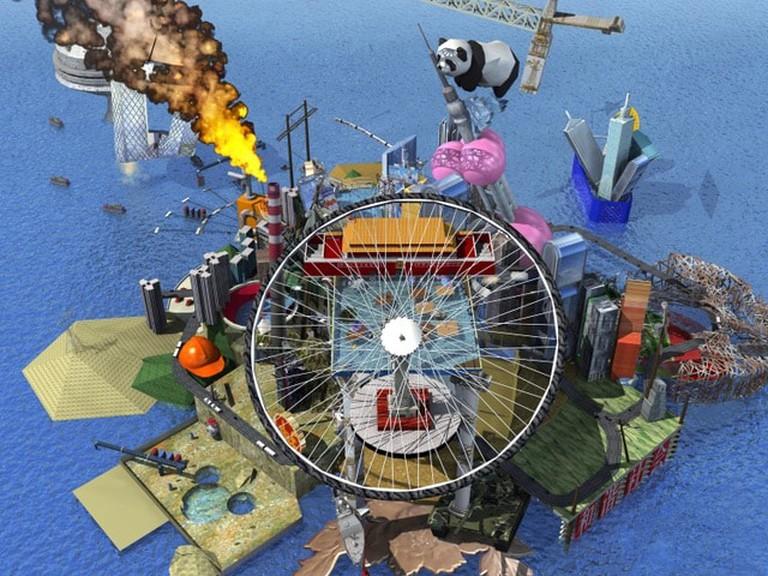 Cao Fei, 'RMB City: A Second Life City Planning' by China Tracy (aka: Cao Fei), 2007 (detail) | © Cao Fei