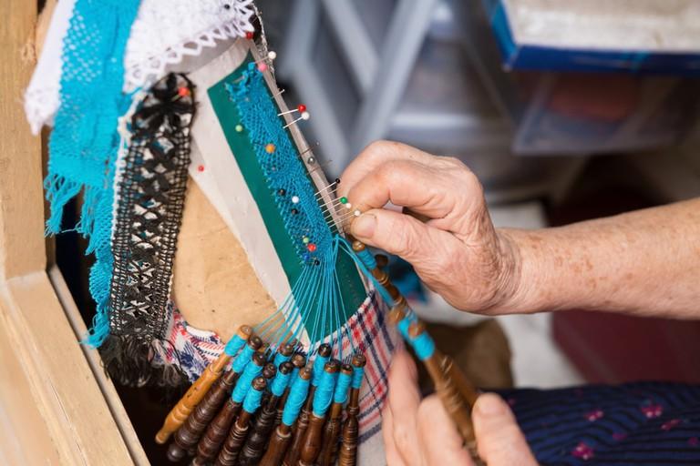 Maltese Hand-Made Tapestry, Bizzila Lace   ©Krzysztof_Jankowski/Shutterstock