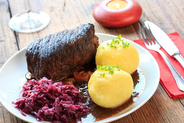 beef roulades and German Klöße