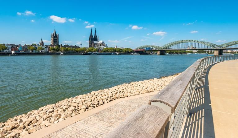 Rhine river Cologne