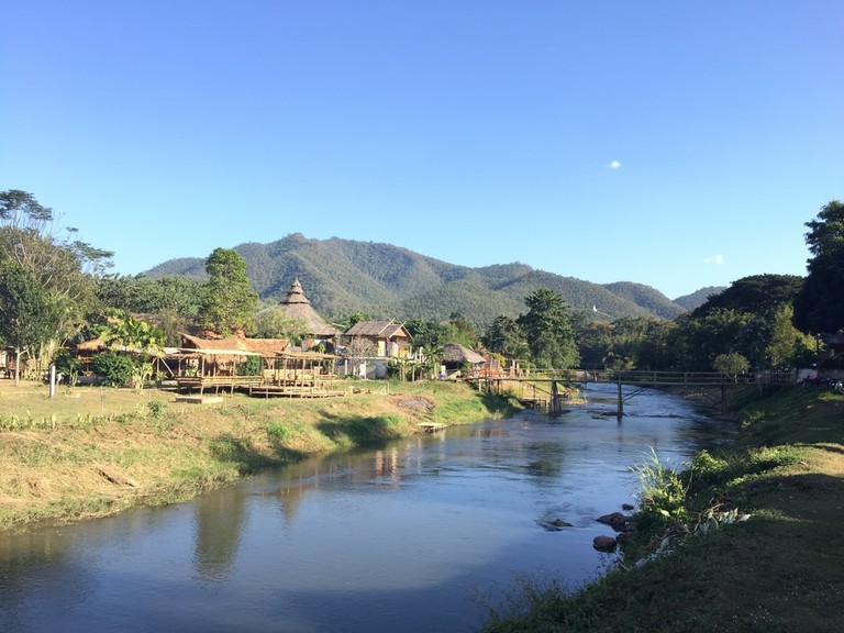 Pai river, a town in northern Thailand's Mae Hong Son Province