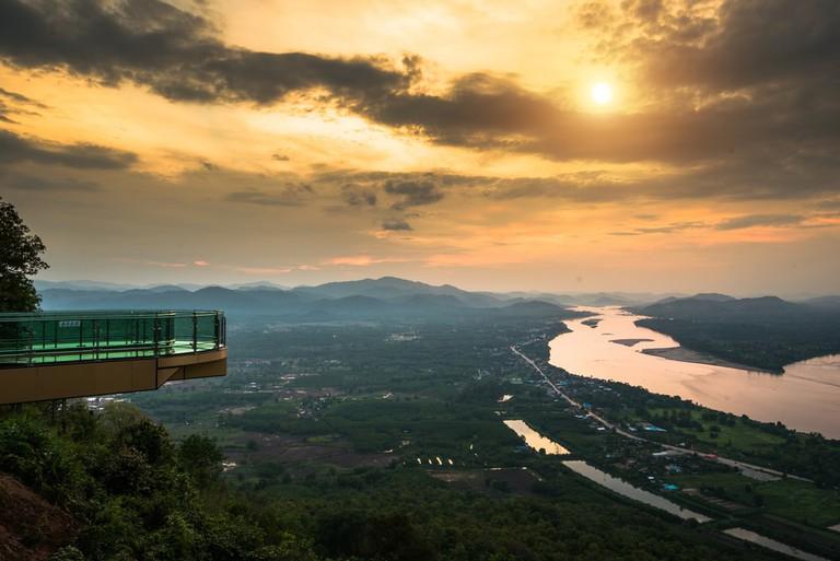 Sky Walk ground Nong Khai, Thailand