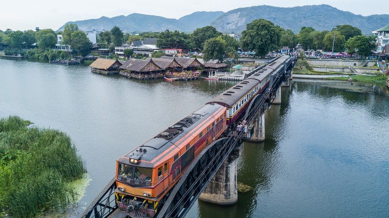 The Bridge on the River Kwai, River Kwai, Kanchanaburi, Thailand