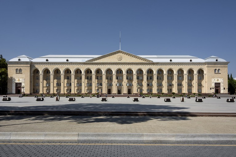 Government building in the Main Square of Ganja   © Rolf G Wackenberg/Shutterstock