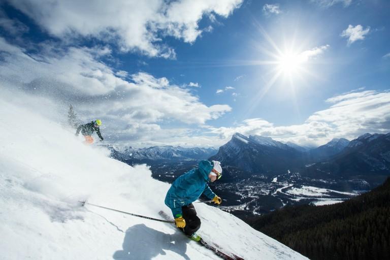 Skiiing Banff Lake Louise Tourism Paul Zizka