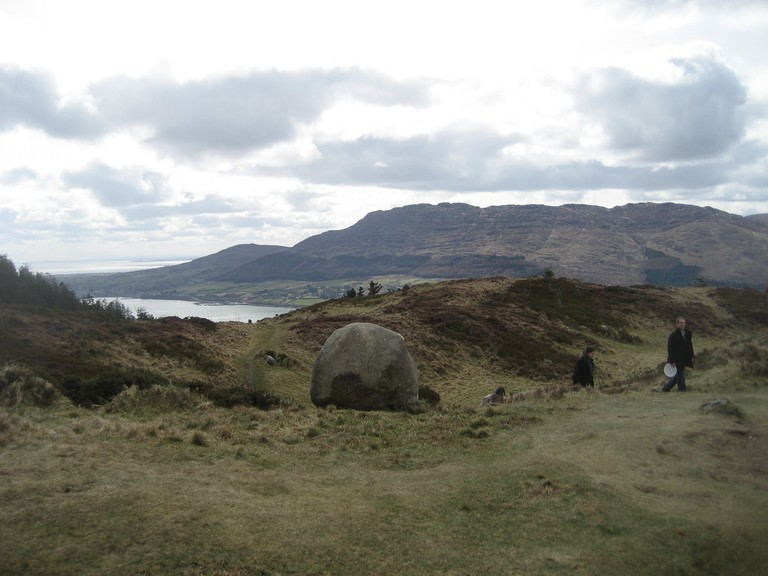A smaller stone, and a view of Slieve Foy