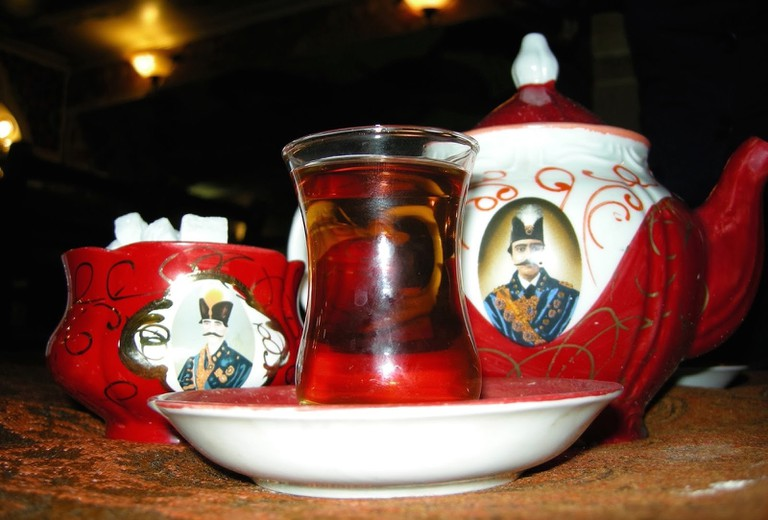 The image of Shah Abbas is commonly seen on teapots in Iran | © Pontia Fallahi