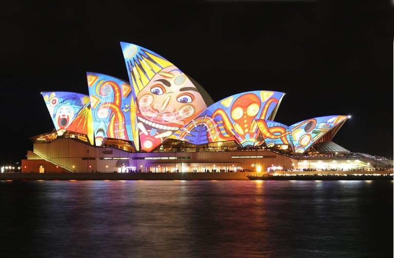 Vivid Sydney   © Adam JWC/Wikimedia Commons