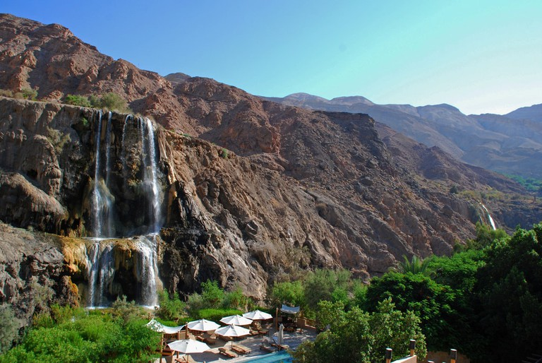 Waterfall at Ma'In Hot springs | ©Rob:flickr