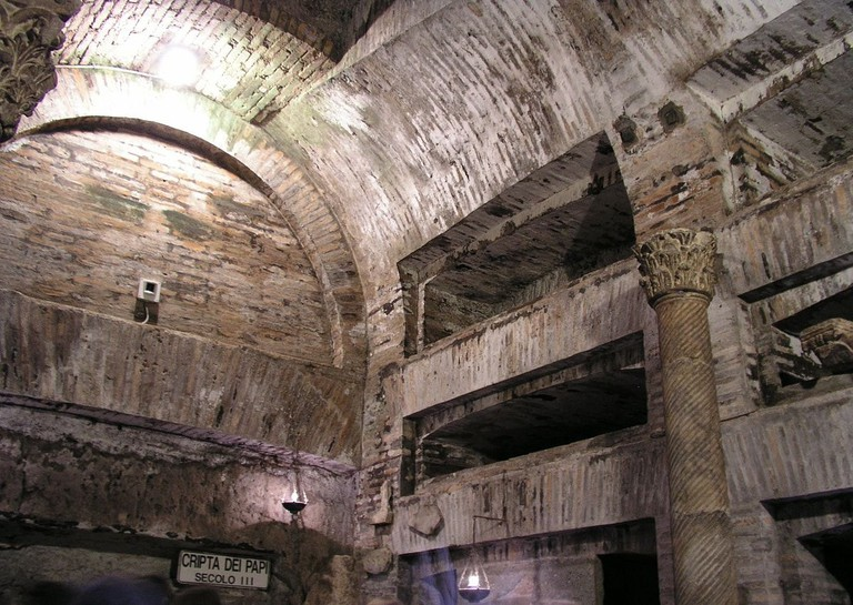 The Catacombs of San Callisto   © Dnalor 01/WikiCommons