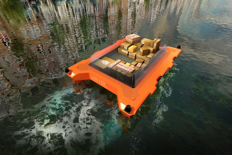 Automated boats could be used for deliveries | © MIT Senseable Lab