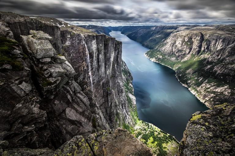 View of Lysefjord from Kjerag mountain | © Giuseppe Milo/Flickr