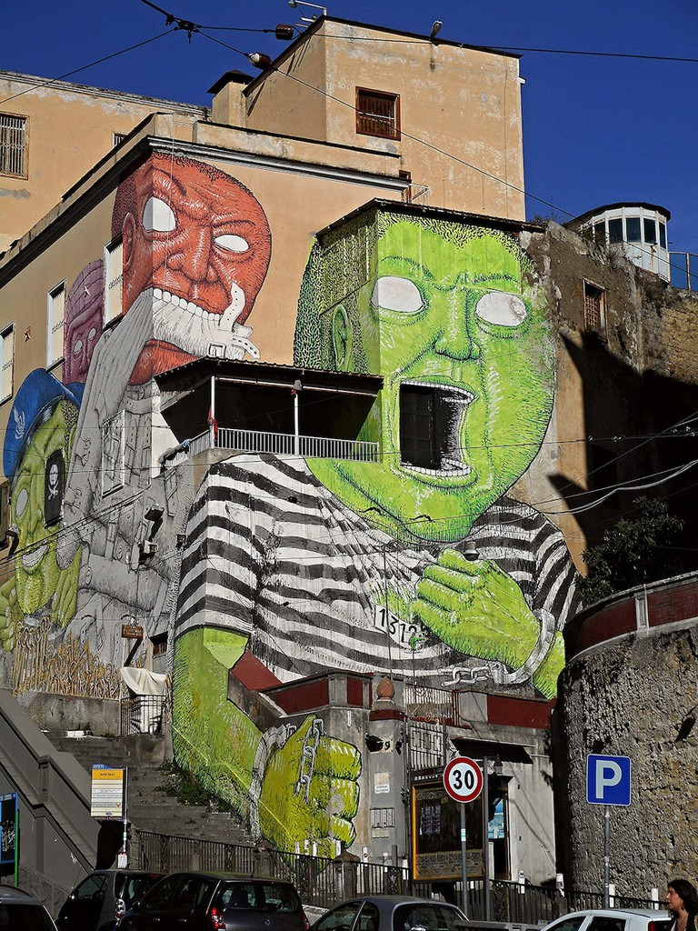 A piece by artist Blu in Naples | © Carlo Raso/Flickr