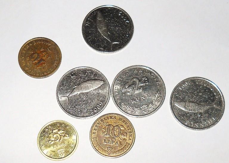 Lipa and kuna coins | © David Holt/Flickr