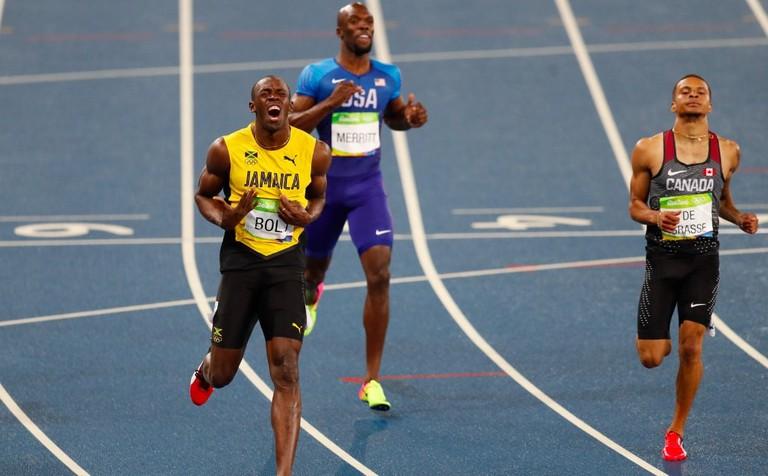 Andre De Grasse challenges Usain Bolt at the Rio 2016 Olympics | © Fernando Frazão/Agência Brasil/Wikimedia Commons