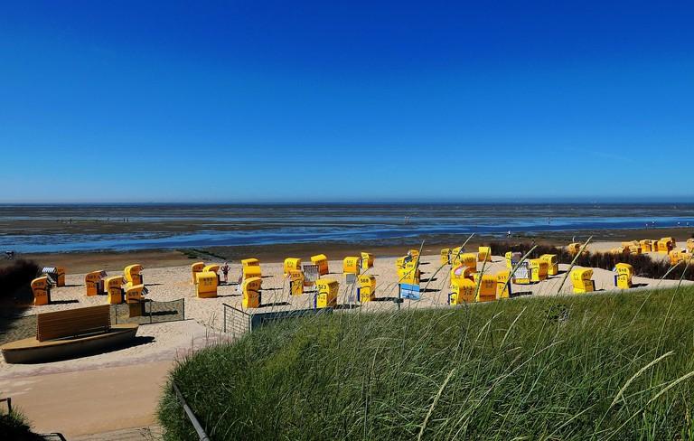 Cuxhaven, Duhnen beach