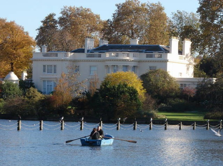 Boating Lake, Regent's Park, with The Home villa in the background