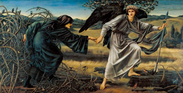 Sir Edward Coley Burne-Jones, 'Love and the Pilgrim',1896–1897 | © Tate