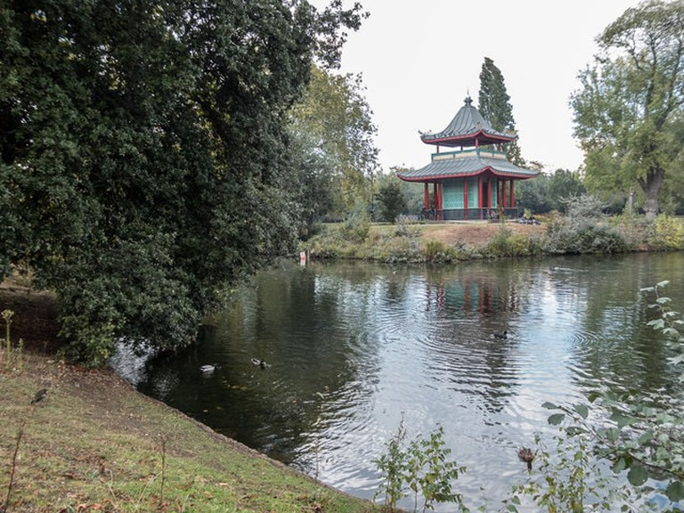Chinese Pagoda by the Boating Lake, Victoria Park