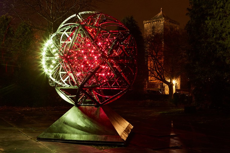 Cosmoscope by Simeon Nelson, part of Lumiere Durham 2017, produced by Artichoke and commissioned by Durham County Council. Cosmoscope was funded by Wellcome for Lumiere Durham. Photo_ Matthew Andrew