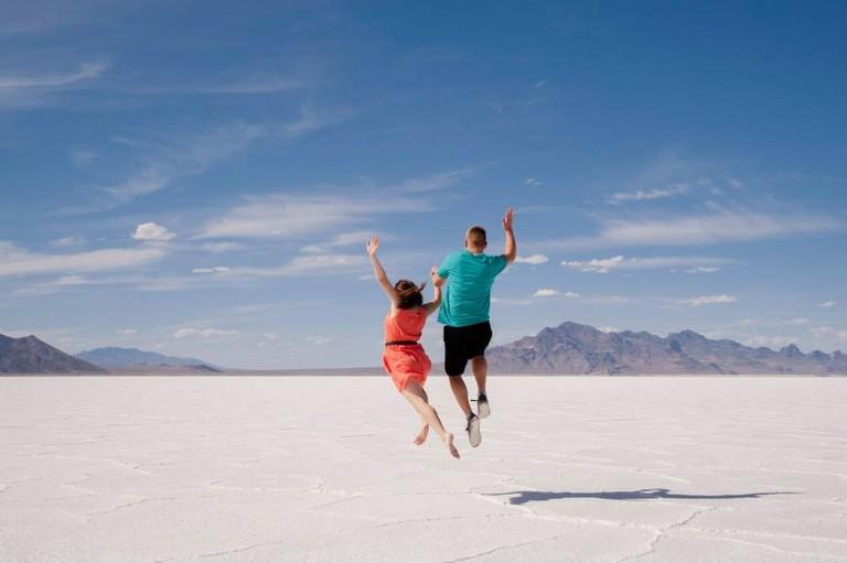 Couple at Salt Flats - Shea Drake