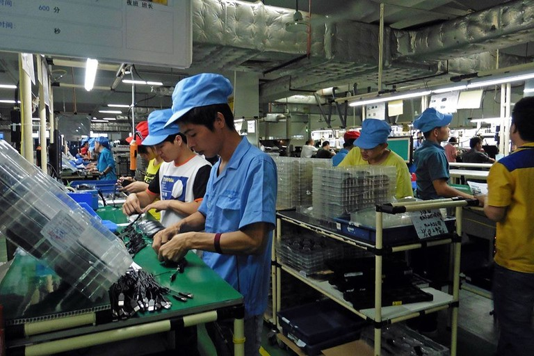Factory workers China