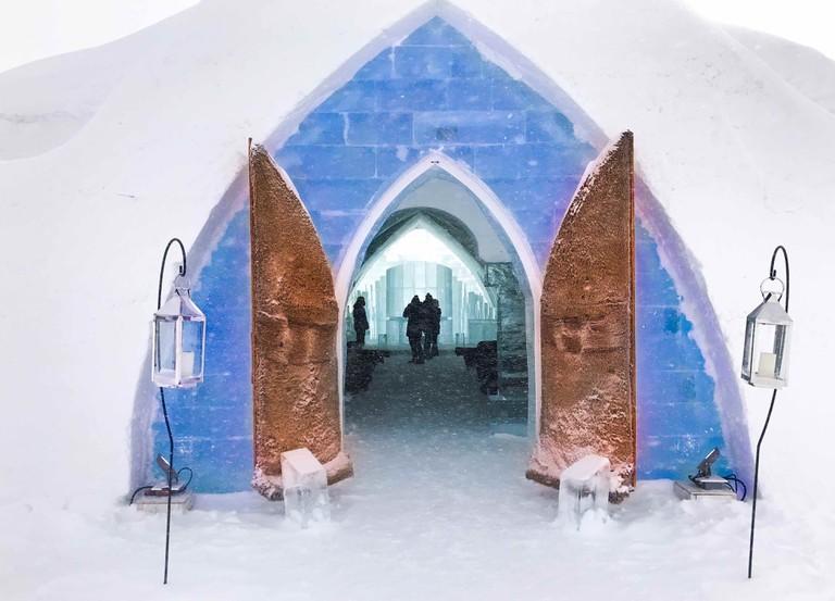 Entrance to chapel | Courtesy of Hôtel de Glace