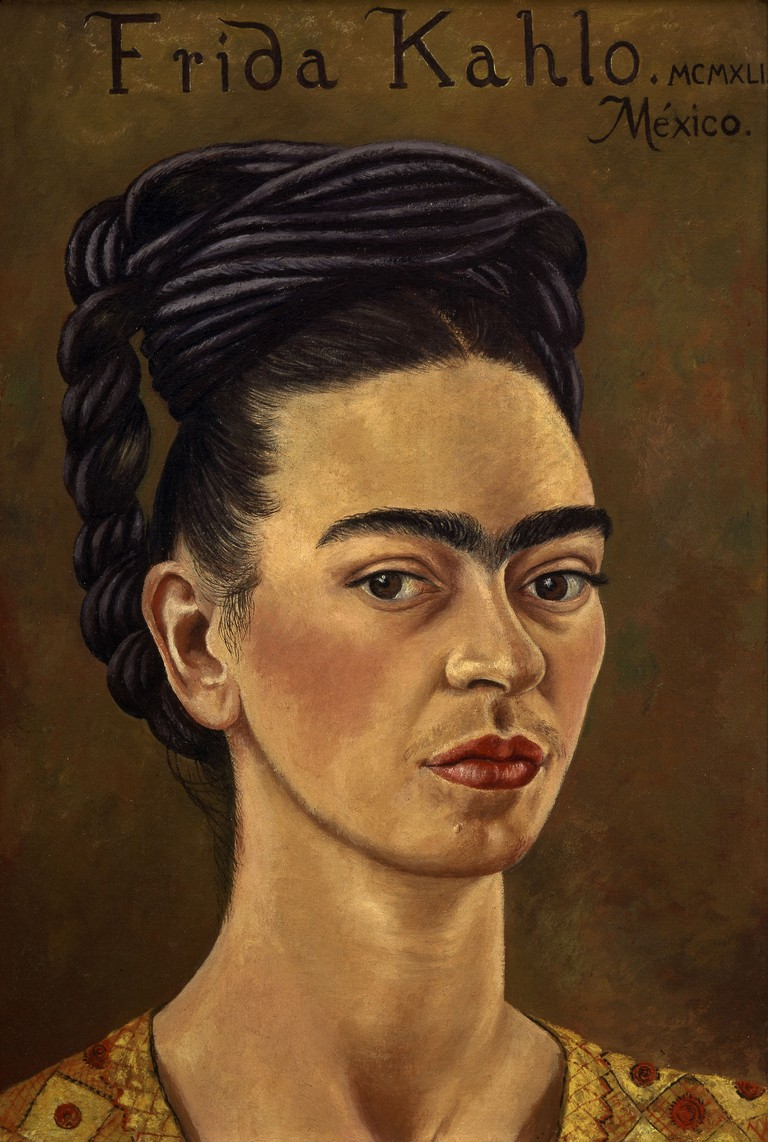 Frida Kahlo, 'Self-Portrait in Red and Gold Dress', 1941 | © Gerardo Suter The J Jacques and Natasha Gelman Collection of 20th Century Mexican Art and The Vergel Foundation