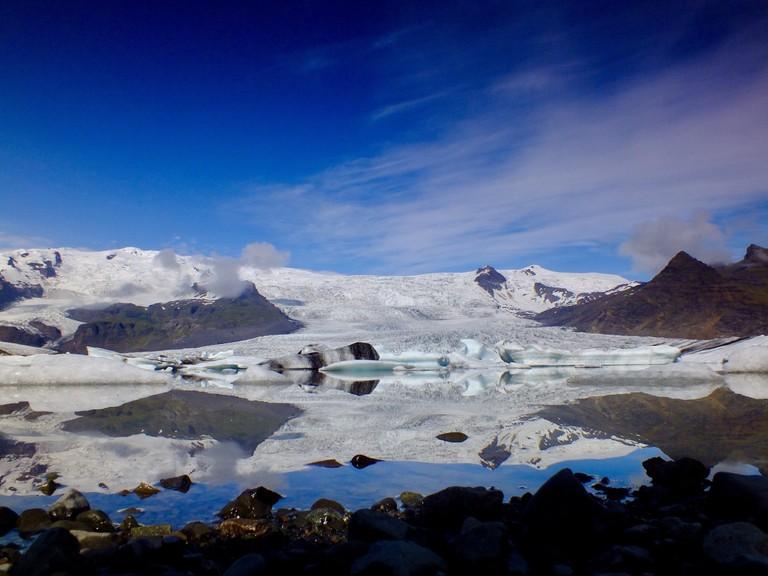 Jökulsárlón glacial lagoon | © Vaughn Lewis