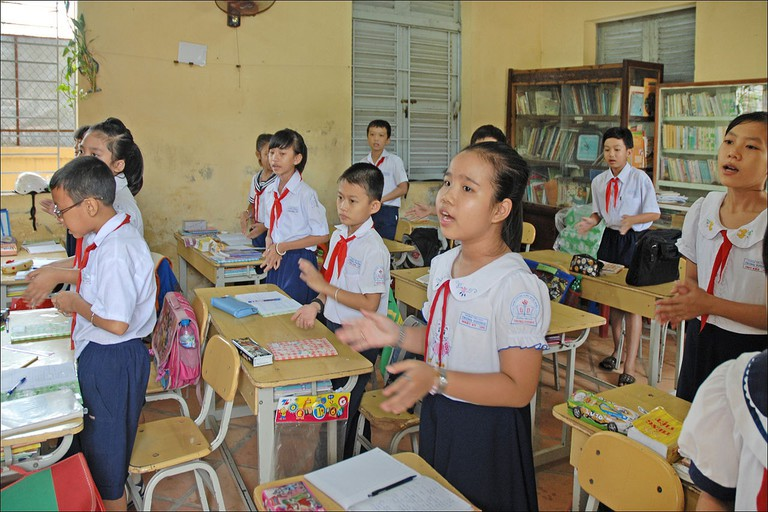 Classroom in Vietnam | © Jean-Pierre Dalbéra/Flickr