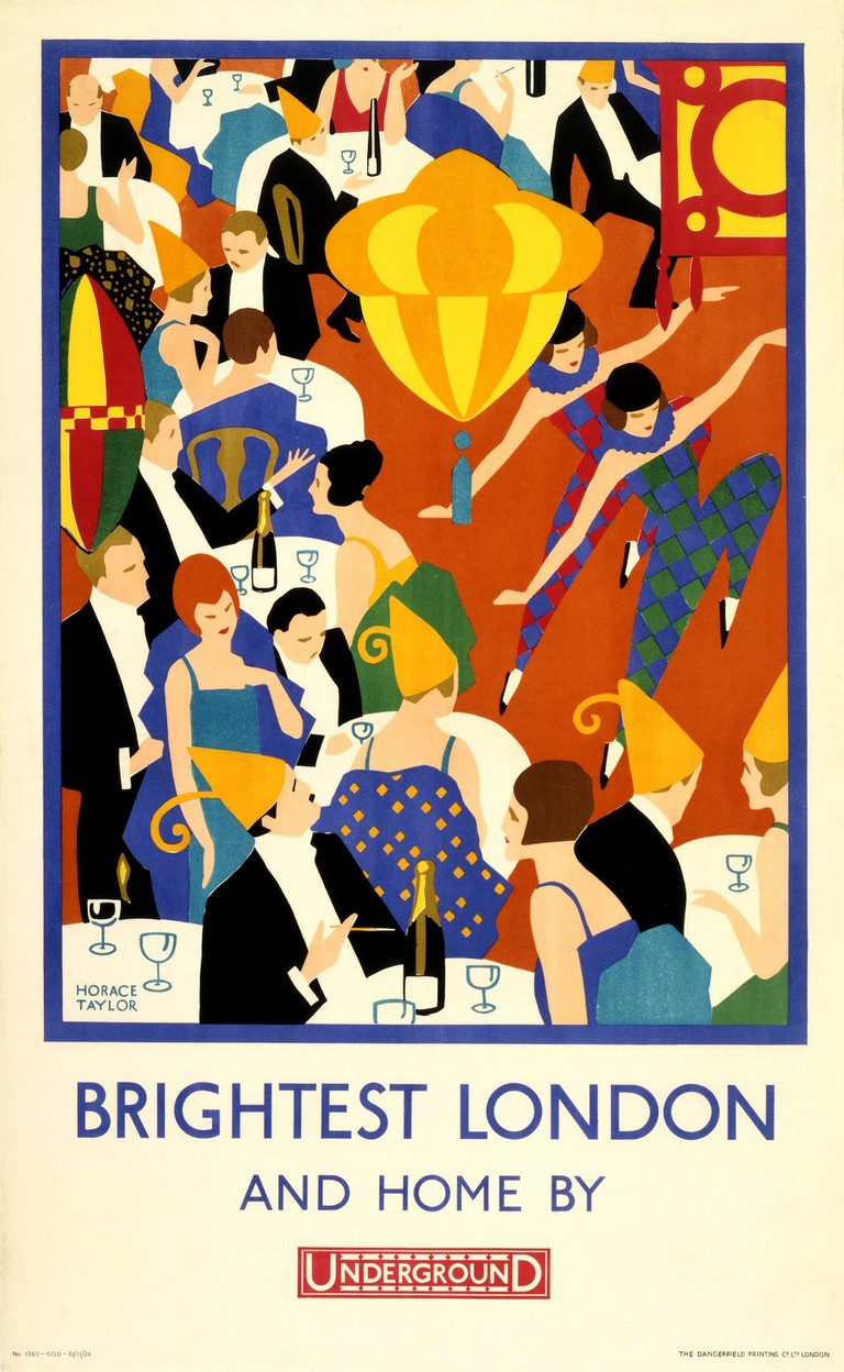 'Brightest London and Home by Underground' poster, 1924, Horace Taylor, London Transport Museum | © TfL from the London Transport Museum collection
