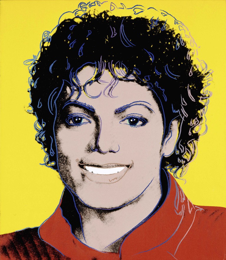 Portrait of Michael Jackson by Andy Warhol
