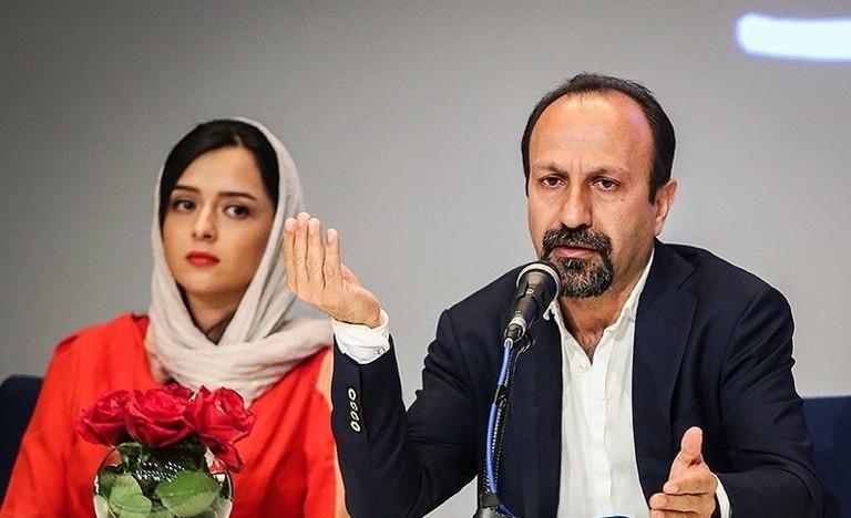 Director Asghar Farhadi and actress Taraneh Alidoosti | © Hamed Malekpour / Wikimedia Commons