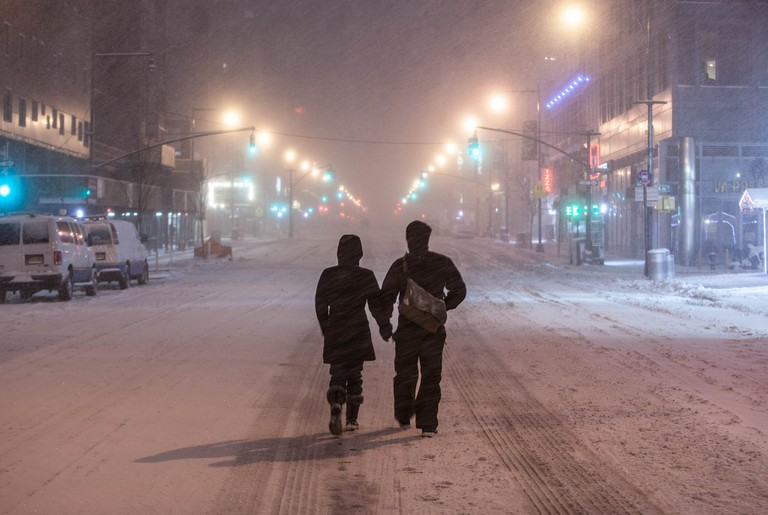 New Yorkers in the snow   Anthony Quintano Flickr