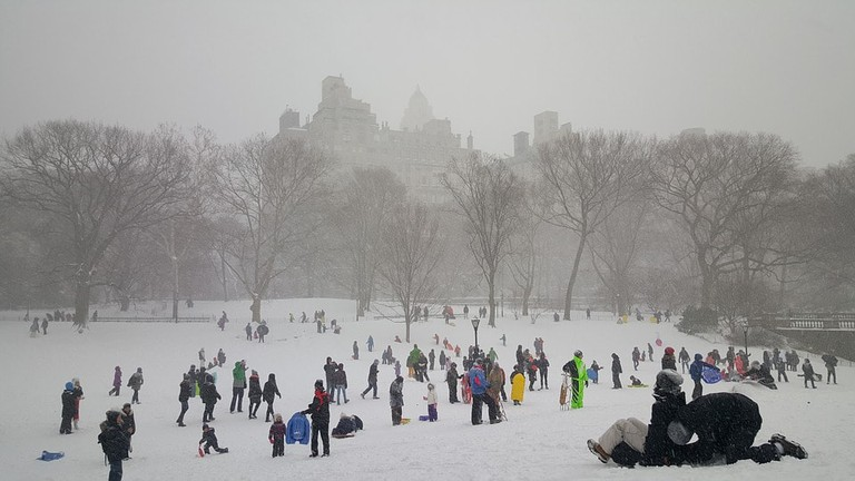 New Yorkers in the snow   Pixabay