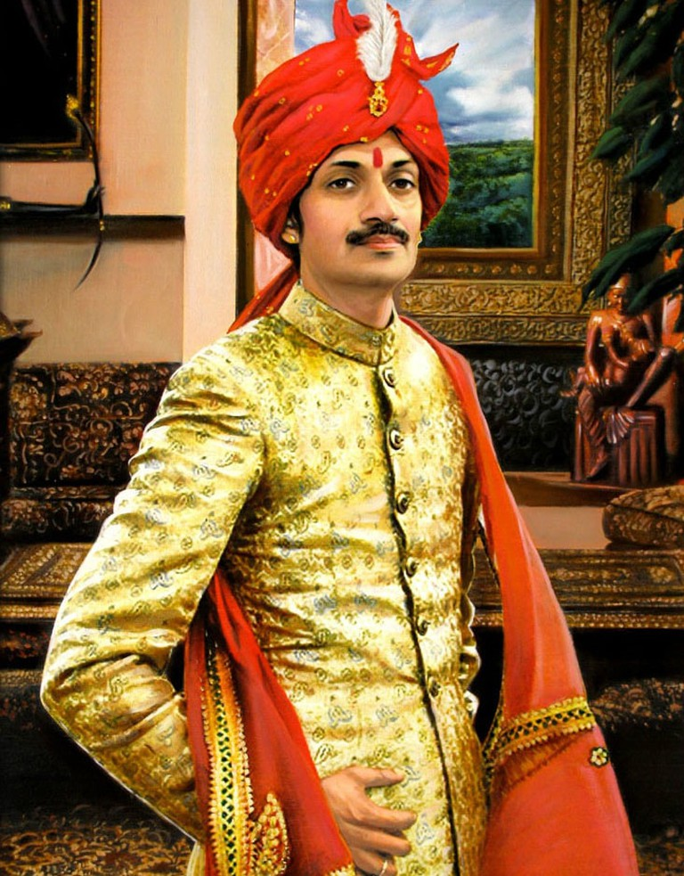 Painting_of_Manvendra_Singh_Gohil 1