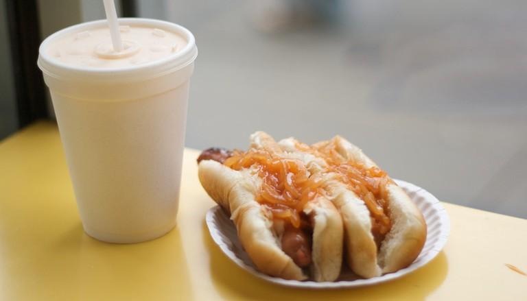 The Recession Special at Gray's Papaya - SOOOO good