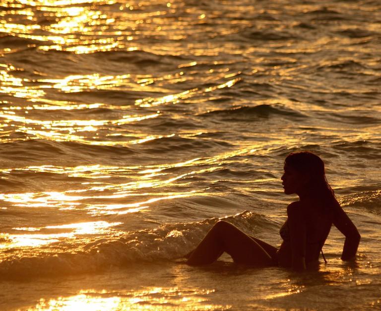 Relaxing in the Ocean